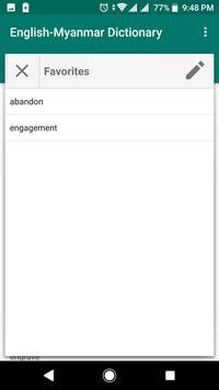 English - Myanmar Dictionary screenshot 3