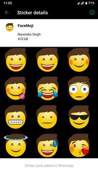 HD Emoji Stickers - WAStickerApps скриншот 3