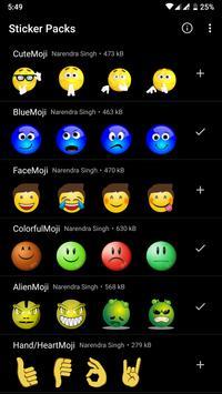 HD Emoji Stickers - WAStickerApps постер