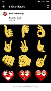 HD Emoji Stickers - WAStickerApps скриншот 11