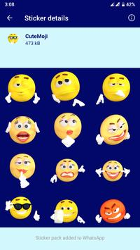 HD Emoji Stickers - WAStickerApps تصوير الشاشة 11