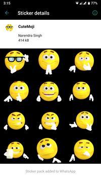HD Emoji Stickers - WAStickerApps स्क्रीनशॉट 1