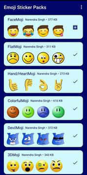 HD Emoji Stickers - WAStickerApps تصوير الشاشة 1