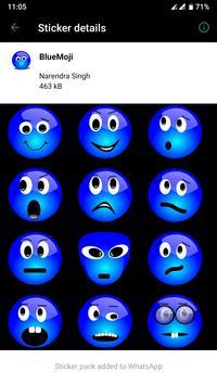 HD Emoji Stickers - WAStickerApps स्क्रीनशॉट 2