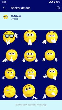 HD Emoji Stickers - WAStickerApps تصوير الشاشة 2