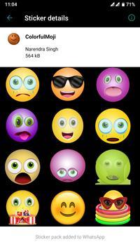 HD Emoji Stickers - WAStickerApps स्क्रीनशॉट 7
