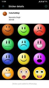 HD Emoji Stickers - WAStickerApps скриншот 4