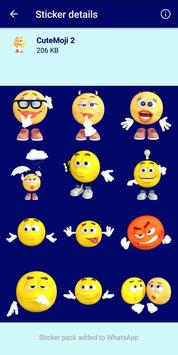 4 Schermata HD Emoji Stickers - WAStickerApps