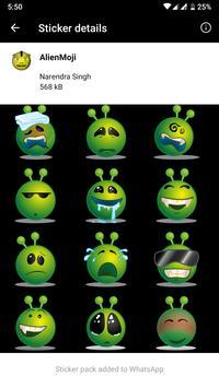 HD Emoji Stickers - WAStickerApps स्क्रीनशॉट 6