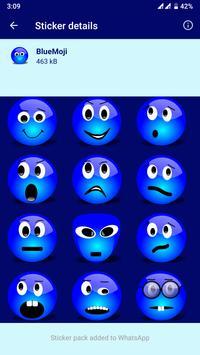 HD Emoji Stickers - WAStickerApps स्क्रीनशॉट 8