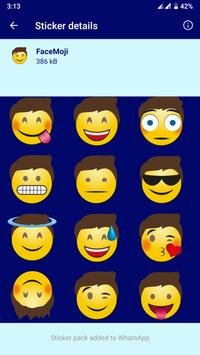 HD Emoji Stickers - WAStickerApps تصوير الشاشة 9