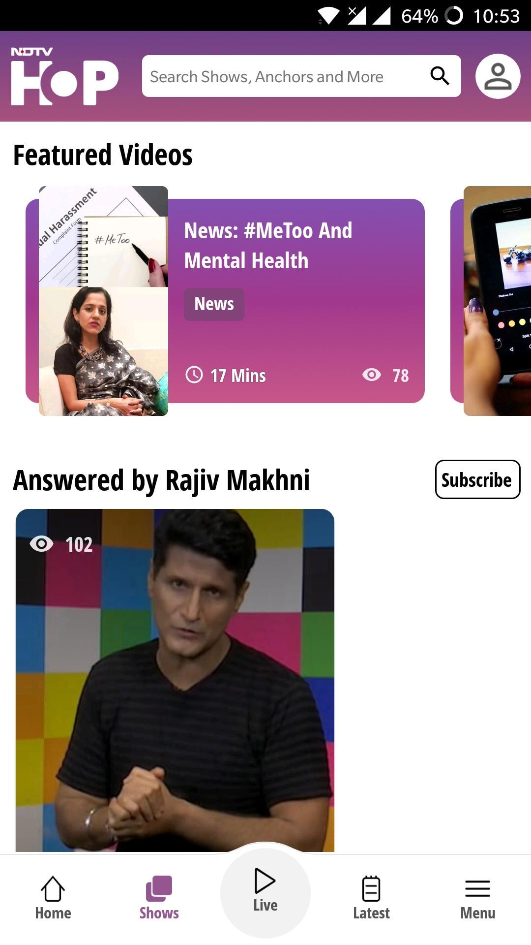 NDTV Hop Live for Android - APK Download