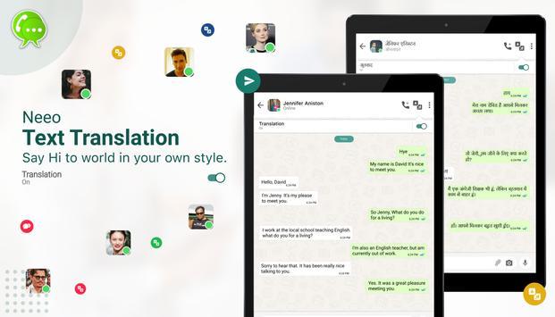 NEEO, Free IM & Chat Translator captura de pantalla 10