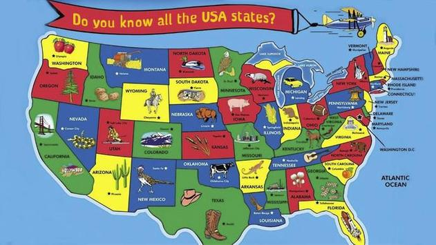 Guess United States Quiz poster