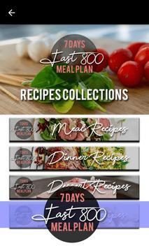 Fast 800 Diet - 7 Days Intermittent Fast Meal Plan screenshot 3