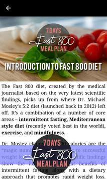 Fast 800 Diet - 7 Days Intermittent Fast Meal Plan poster