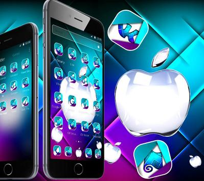 Neon purple and blue apple theme screenshot 1