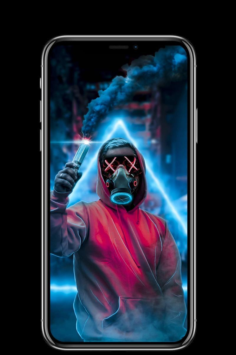 Neon Mask Wallpaper For Android Apk Download