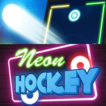 Neon Hockey Ball poster