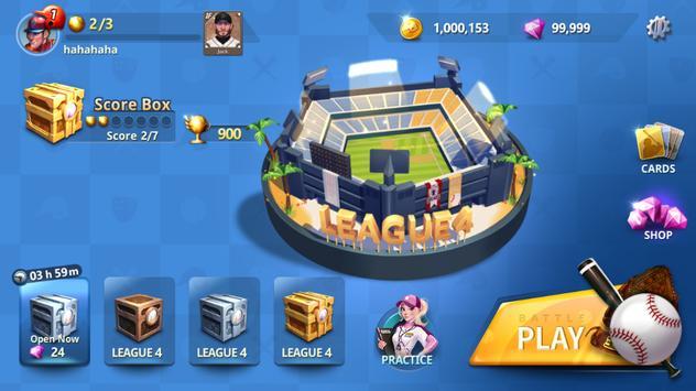 Baseball Clash: Real-time game imagem de tela 4