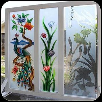 DESIGN GLASS STAINED poster