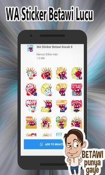 Kumpulan WA Sticker Betawi Kocak - WAStickerApps screenshot 2