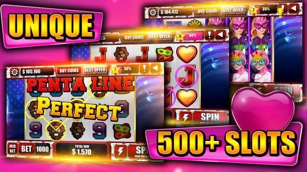 Be my valentine: Slot machines screenshot 4