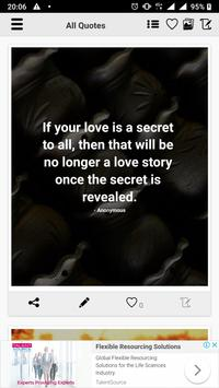 Hidden Love Quotes poster