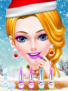 Christmas Girl Makeup & Dress Up Games For Girls poster