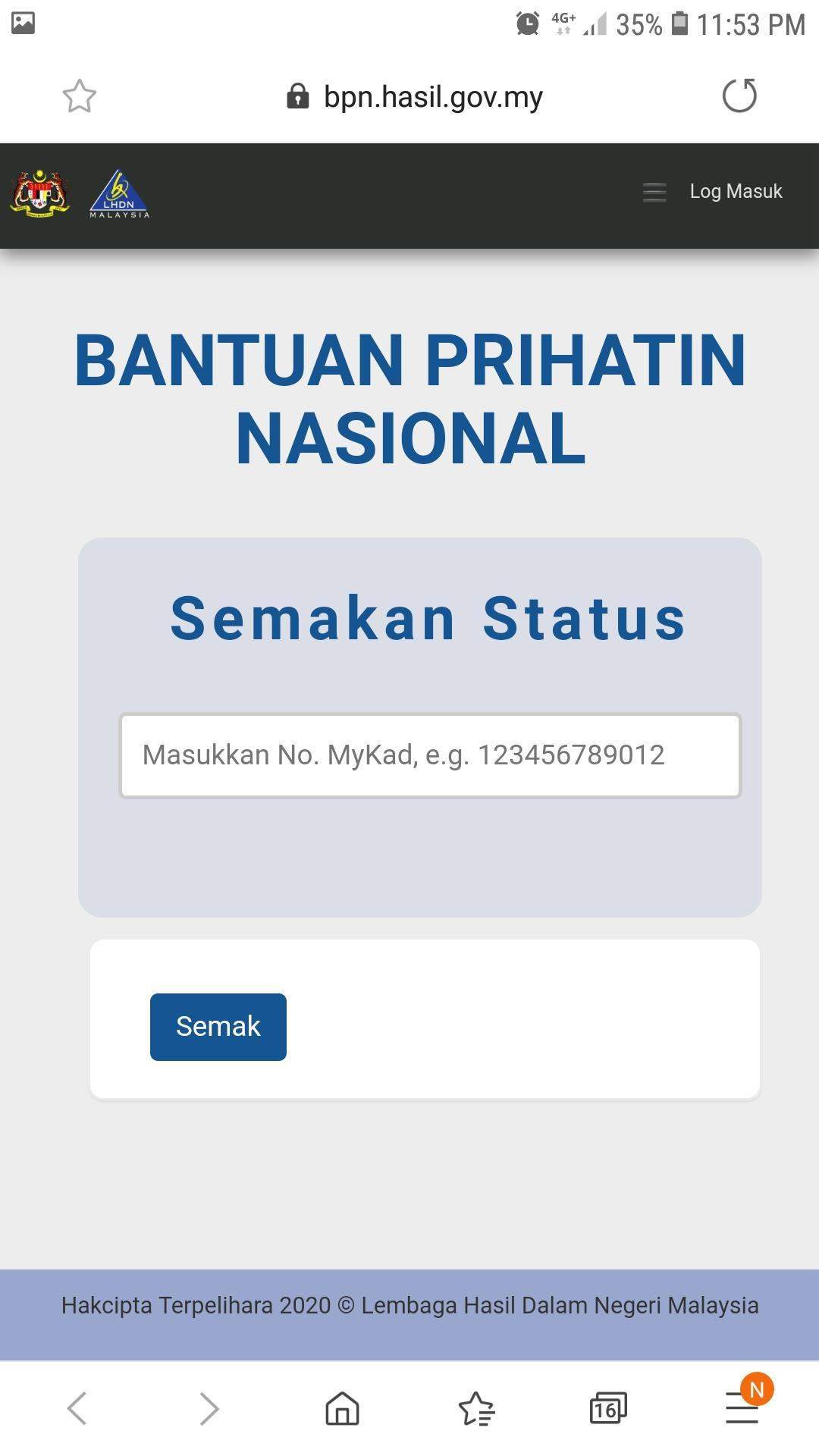 Semak Bantuan Sara Hidup For Android Apk Download