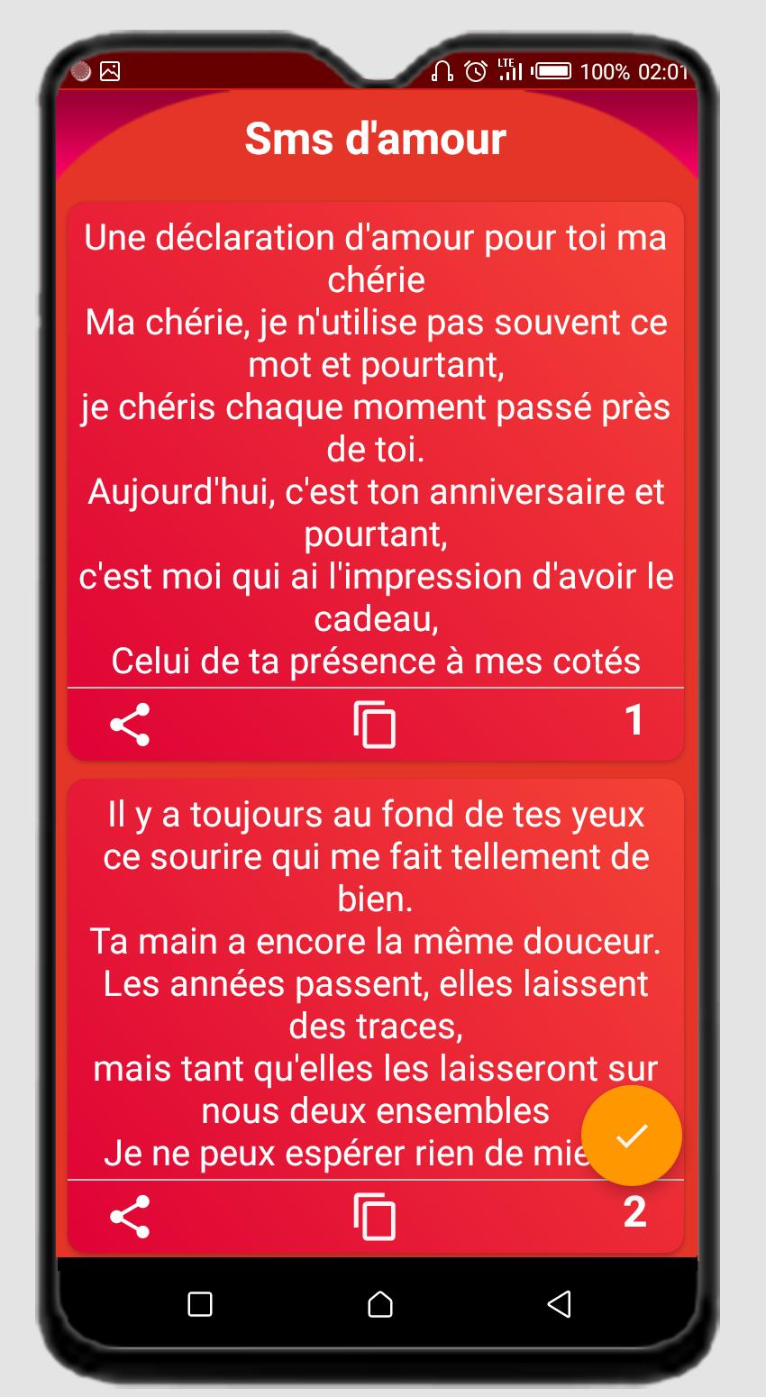 Sms Bonjeur Et Lettre Damour For Android Apk Download