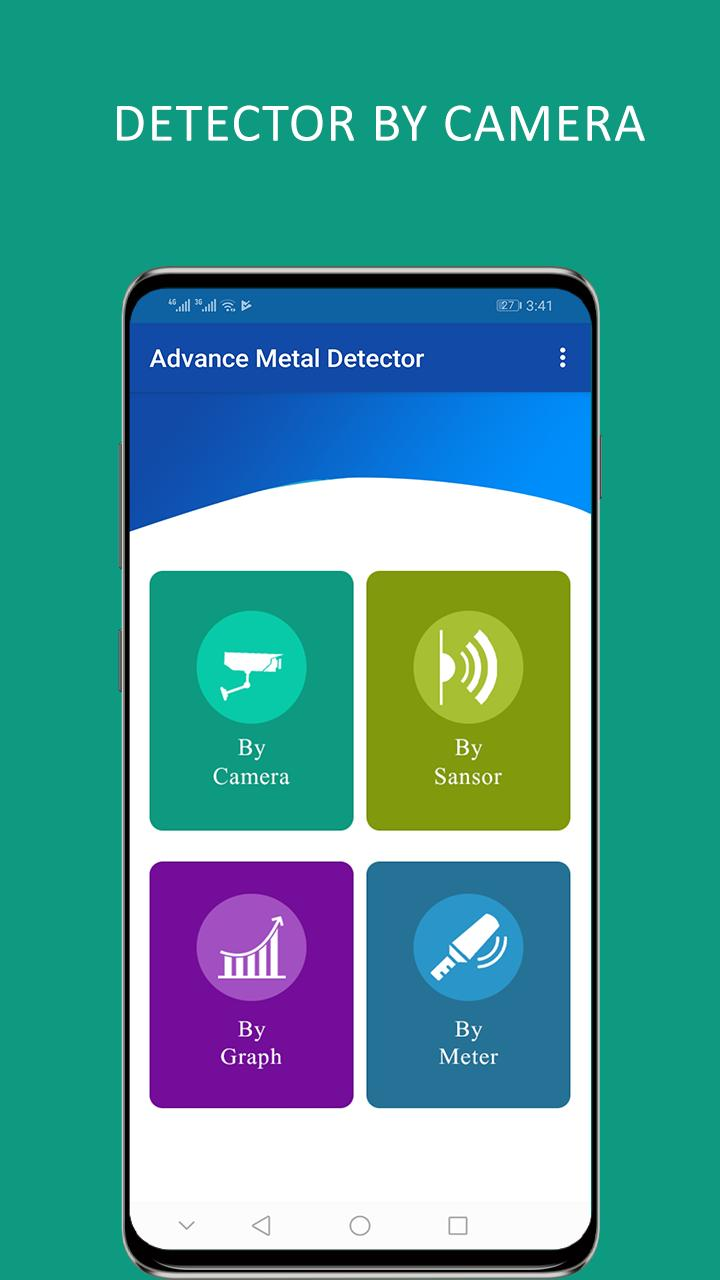 Metal detector with sound: sensor detector app for Android