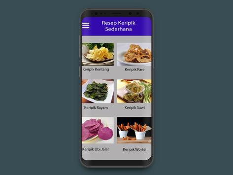 Aneka Resep Keripik Sederhana screenshot 1