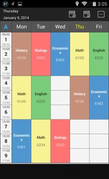 Handy Timetable poster
