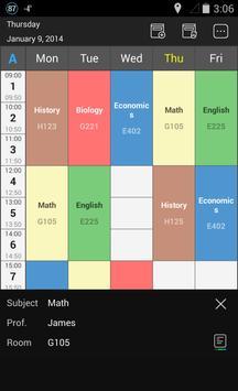 Handy Timetable screenshot 1