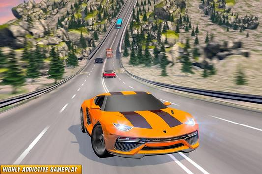 Drive in Car on Highway : Racing games poster