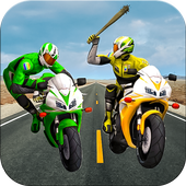 Moto Bike Attack Race 3d games simgesi