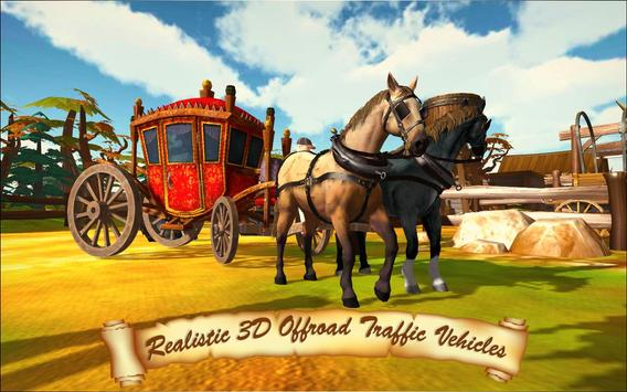 Horse Taxi City Transport: Horse Riding Games screenshot 13