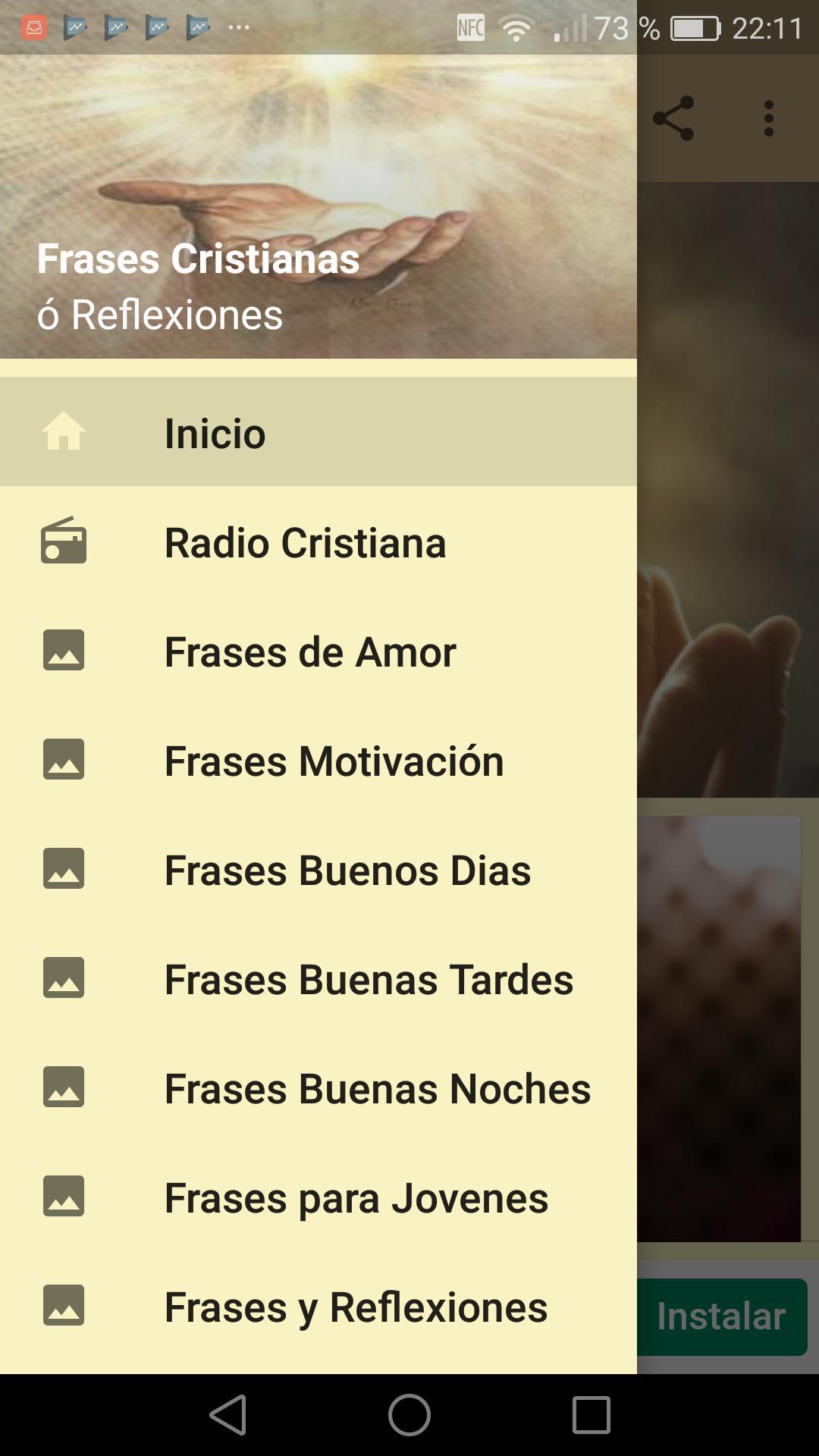 Frases Cristianas ó Reflexiones Con Imágenes для андроид