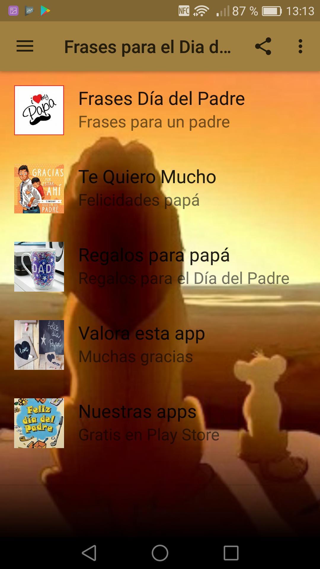 Frases Para El Dia Del Padre для андроид скачать Apk