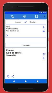 German to Croatian Spoken Translator poster
