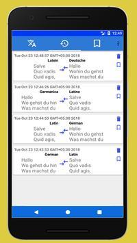 Latin German Translator screenshot 4