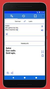 Latin German Translator poster
