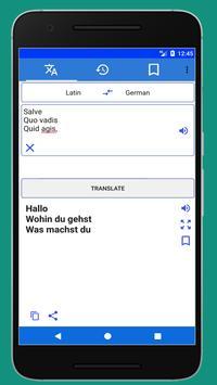 Latin German Translator screenshot 1