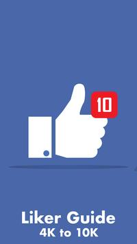 Liker App -4K to 10K Guide for Auto Likes and fans poster