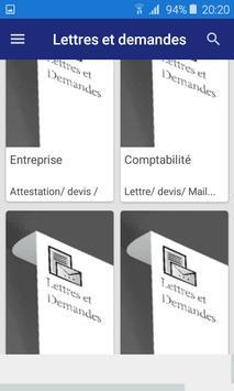 Lettre et Demande : French letters plakat