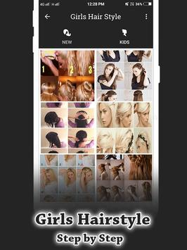Girls Hairstyle Step by Step screenshot 2