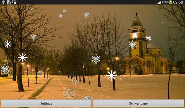 Snow Flakes Live Wallpaper screenshot 4