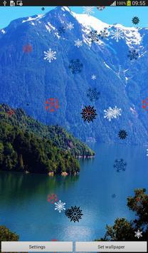 Snow Flakes Live Wallpaper screenshot 3