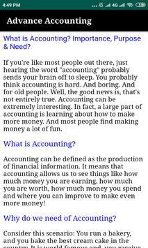 Advance Accounting :Tutorials screenshot 1